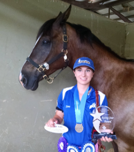 Virginia Strench and Black Diamond - Eventing